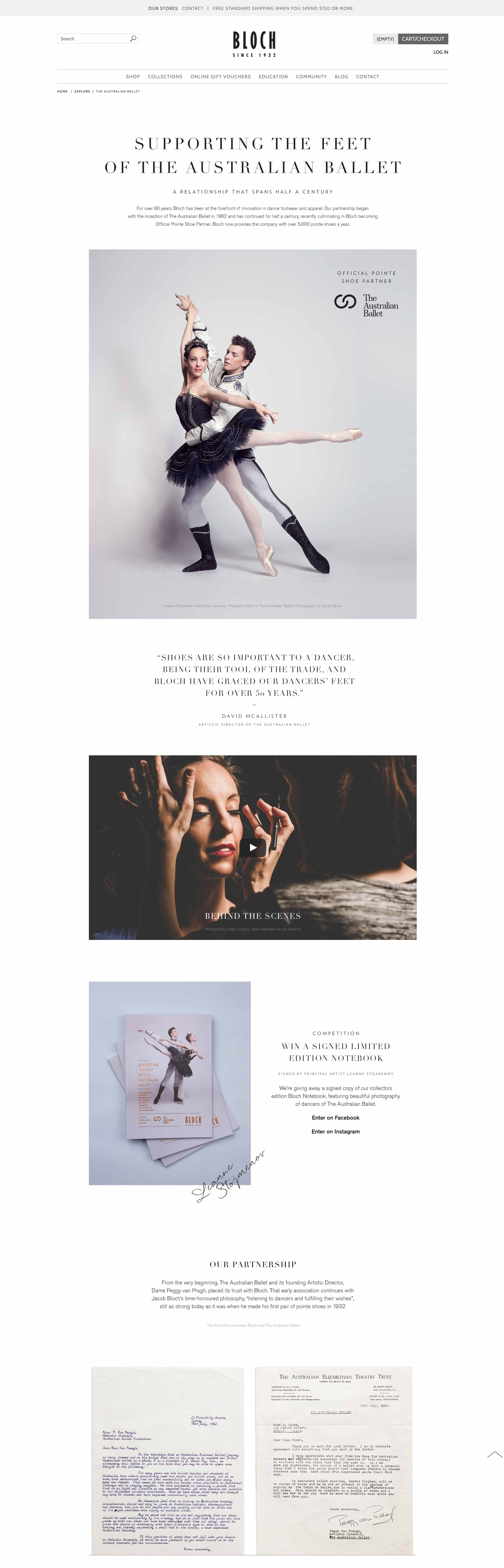 The Australian Ballet Landing Page
