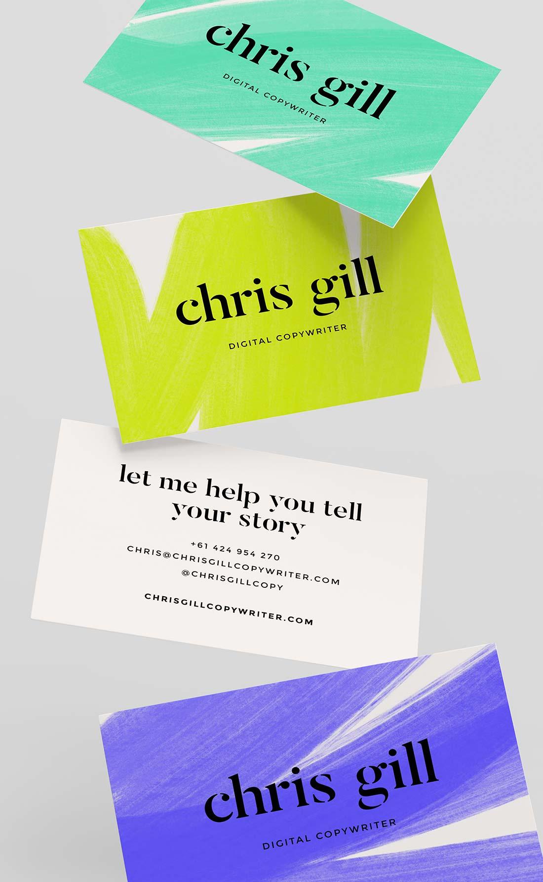Chris Gill Copywriter Business Cards
